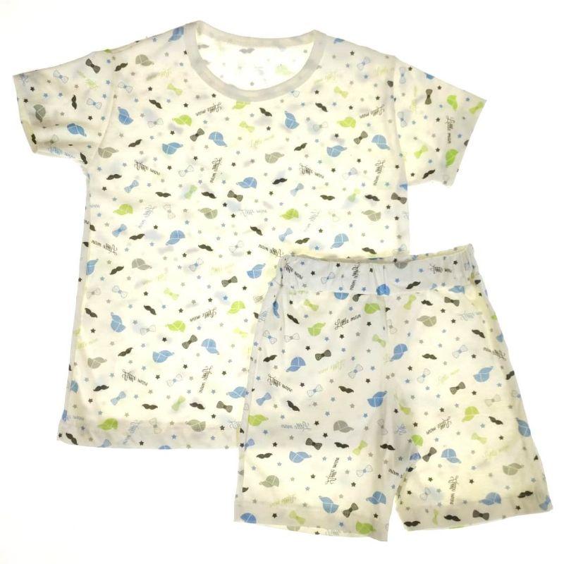 Pijama Curto Infantil Cru de Bigodes