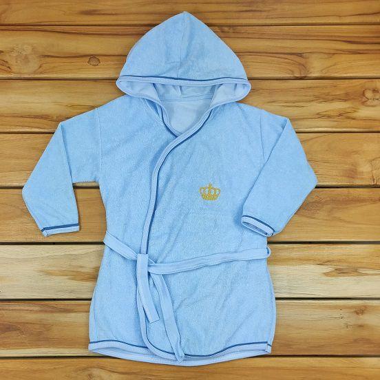 Roupão Infantil Azul Príncipe