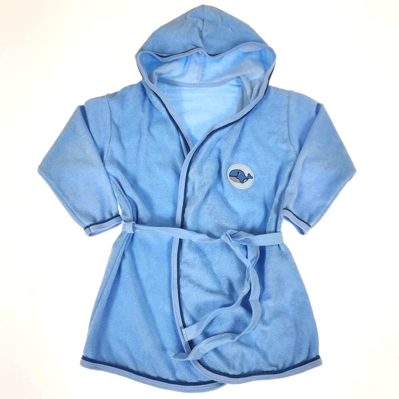 Roupão Infantil Azul Baleia