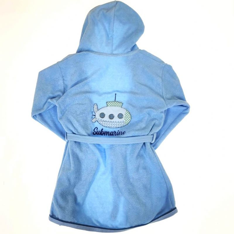 Roupão Infantil Azul Submarino