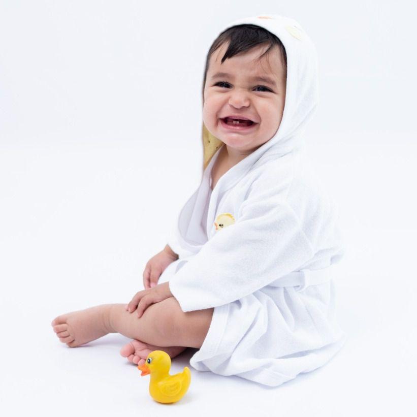 Roupão Infantill Branco