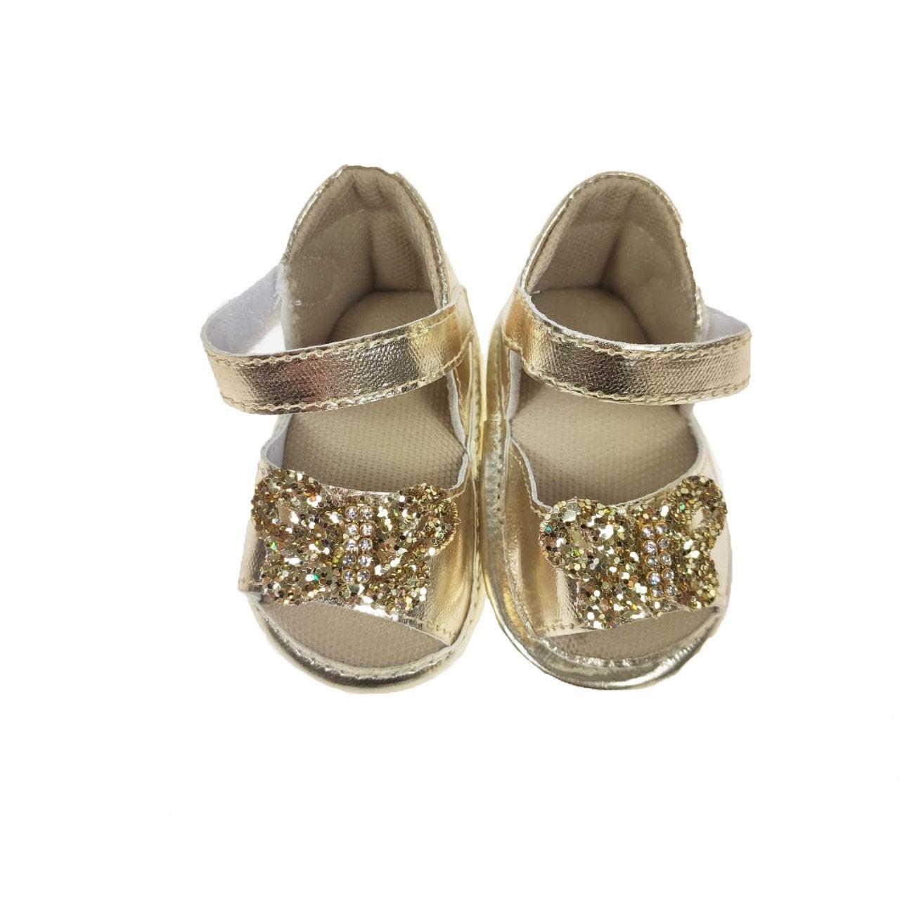 Sandália Bebê Dourada