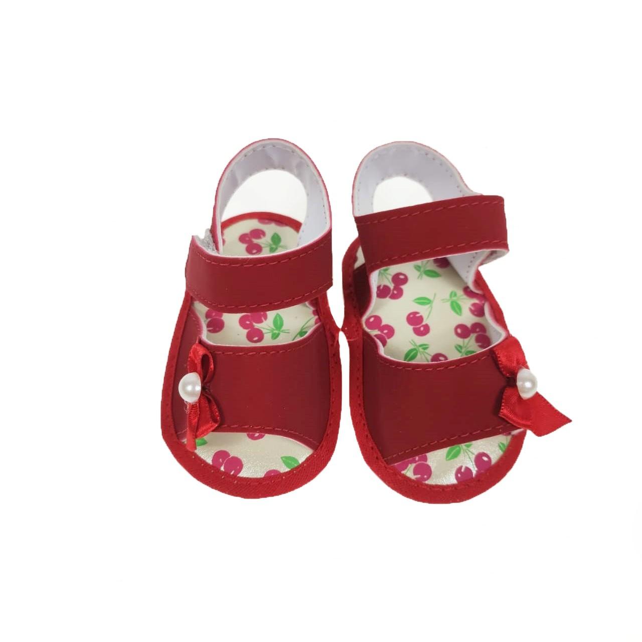 Sandália Bebê Vermelha