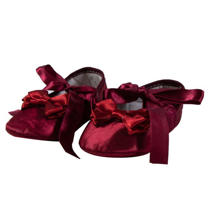 Sapato com Laço Vermelho