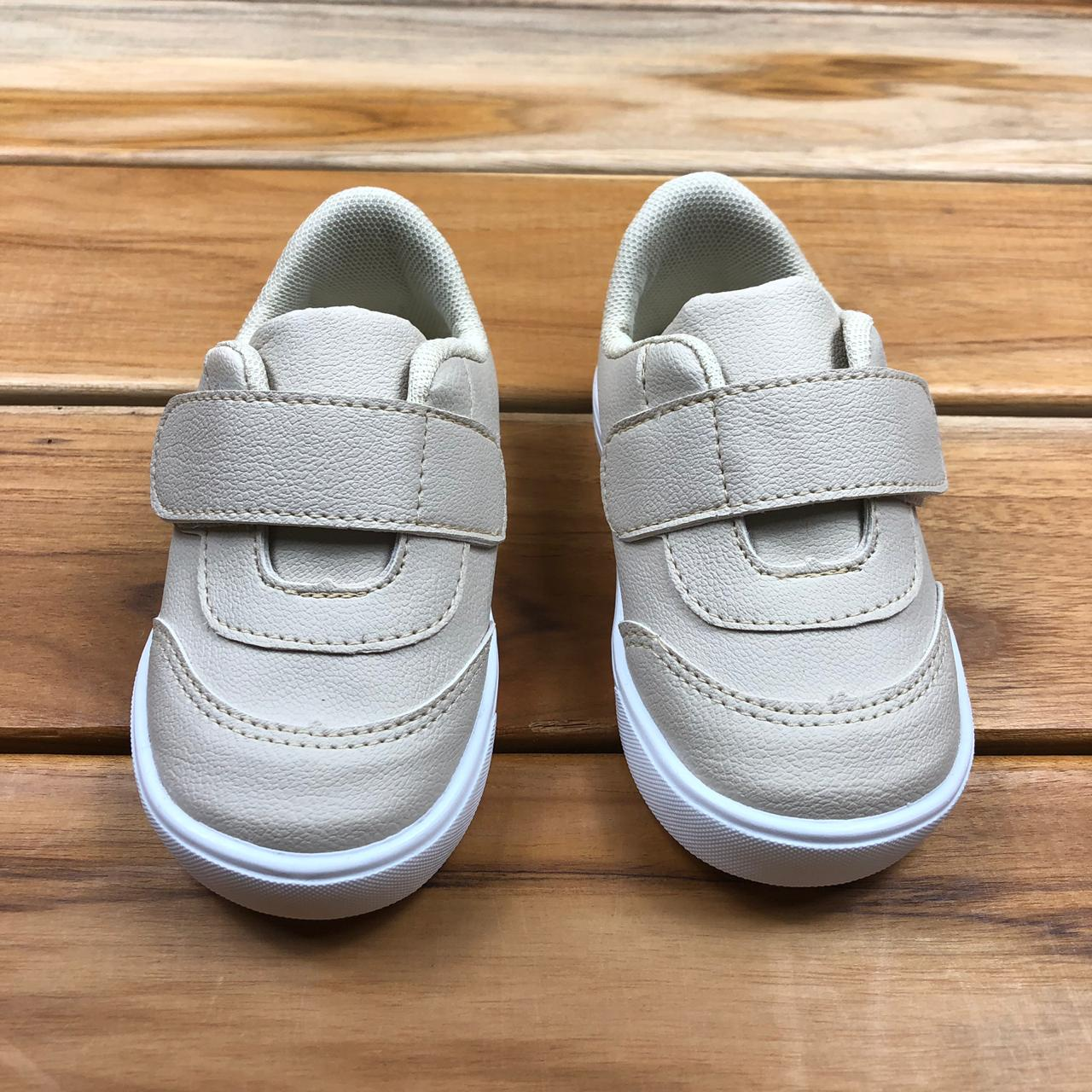 Tênis Bebê Cru com Velcro
