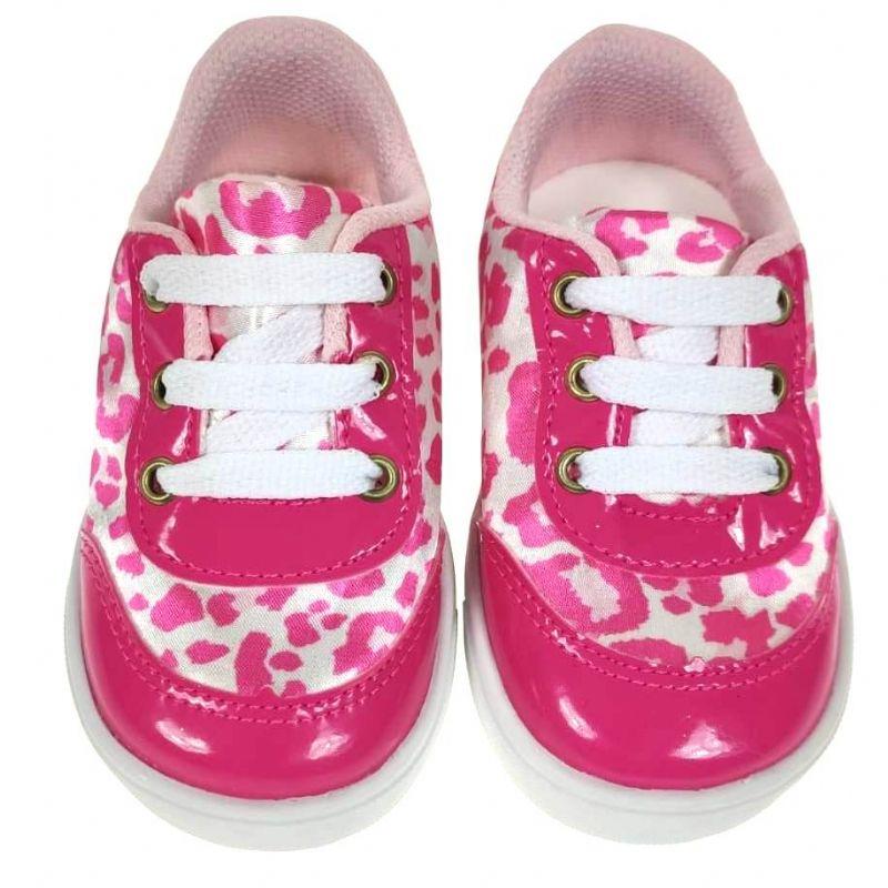 Tênis Infantil Pink Oncinha #PROMODODIA