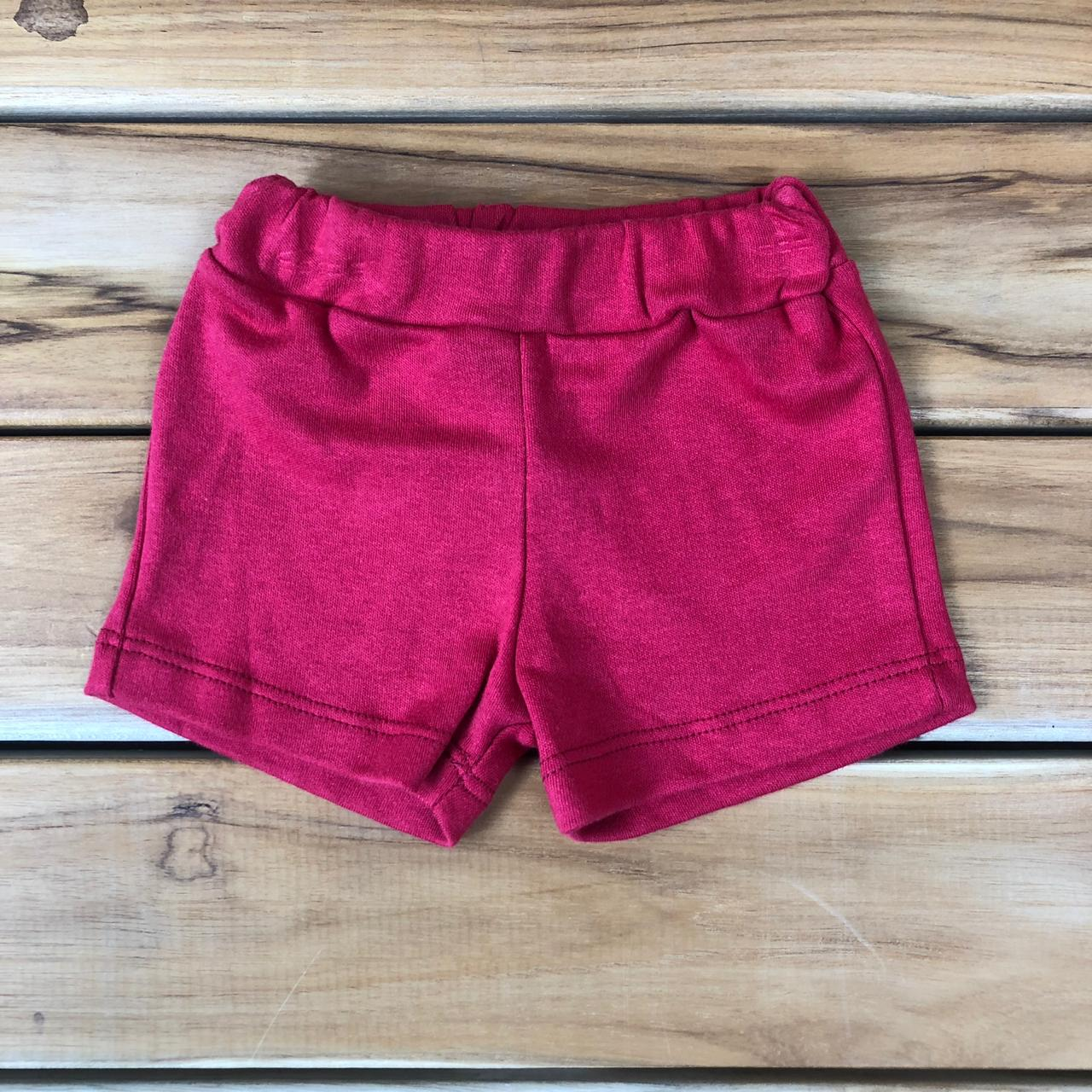 Shorts Bebê Vermelho