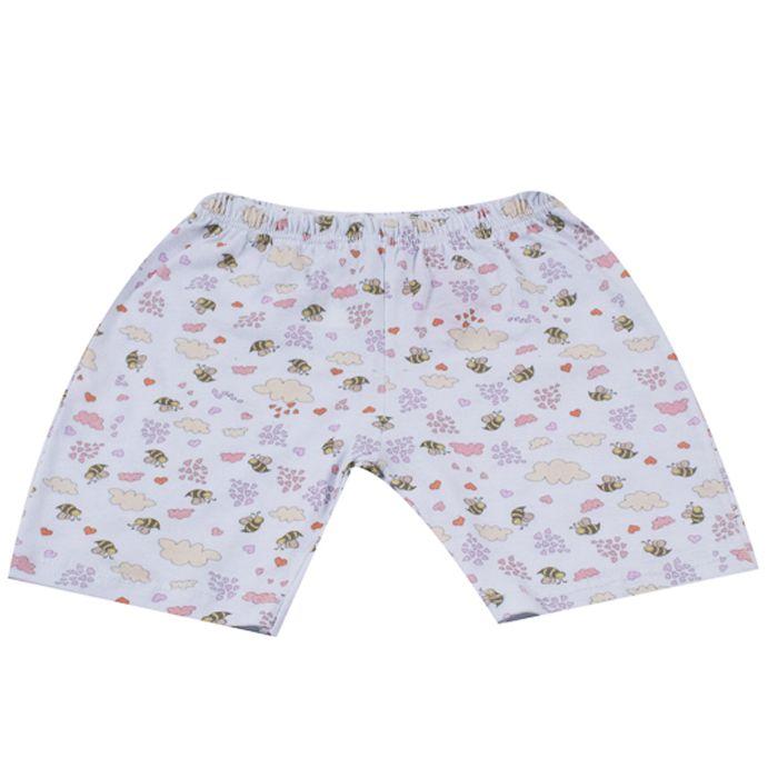 Shorts Infantil Branco de Abelinhas