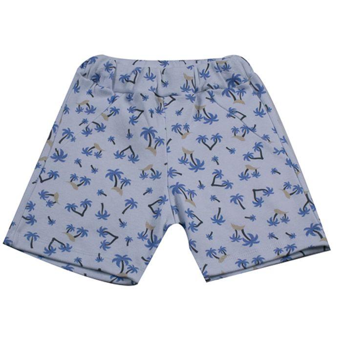 Shorts Infantil Branco de Coqueiros
