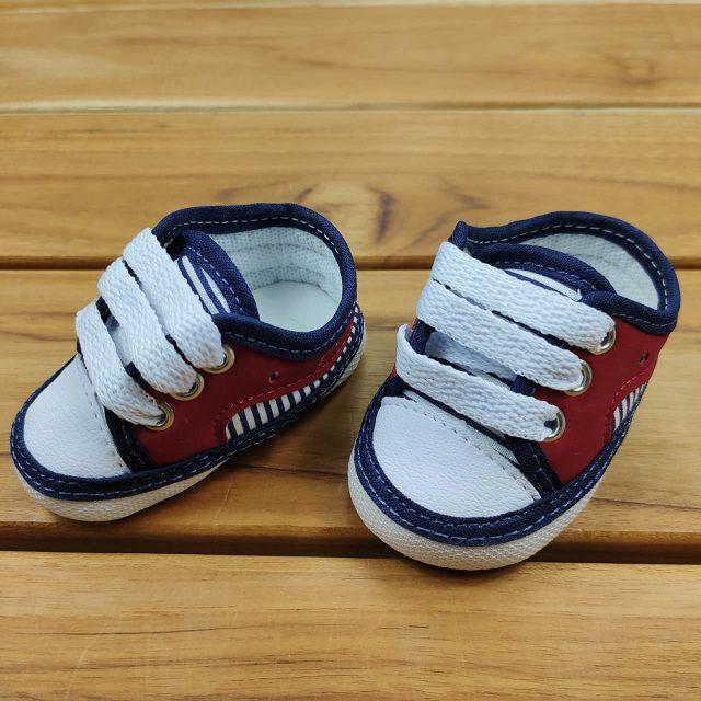 Tênis Bebê Azul e Vermelho All