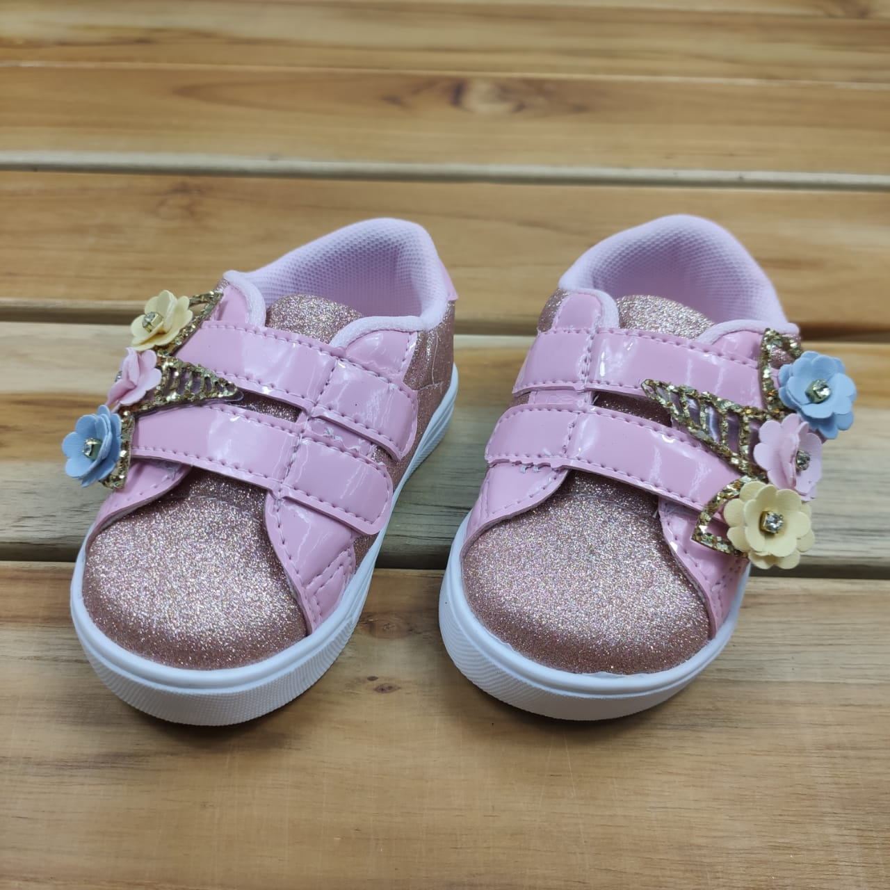 Tênis Bebê Rosa Unicórnio com Glitter