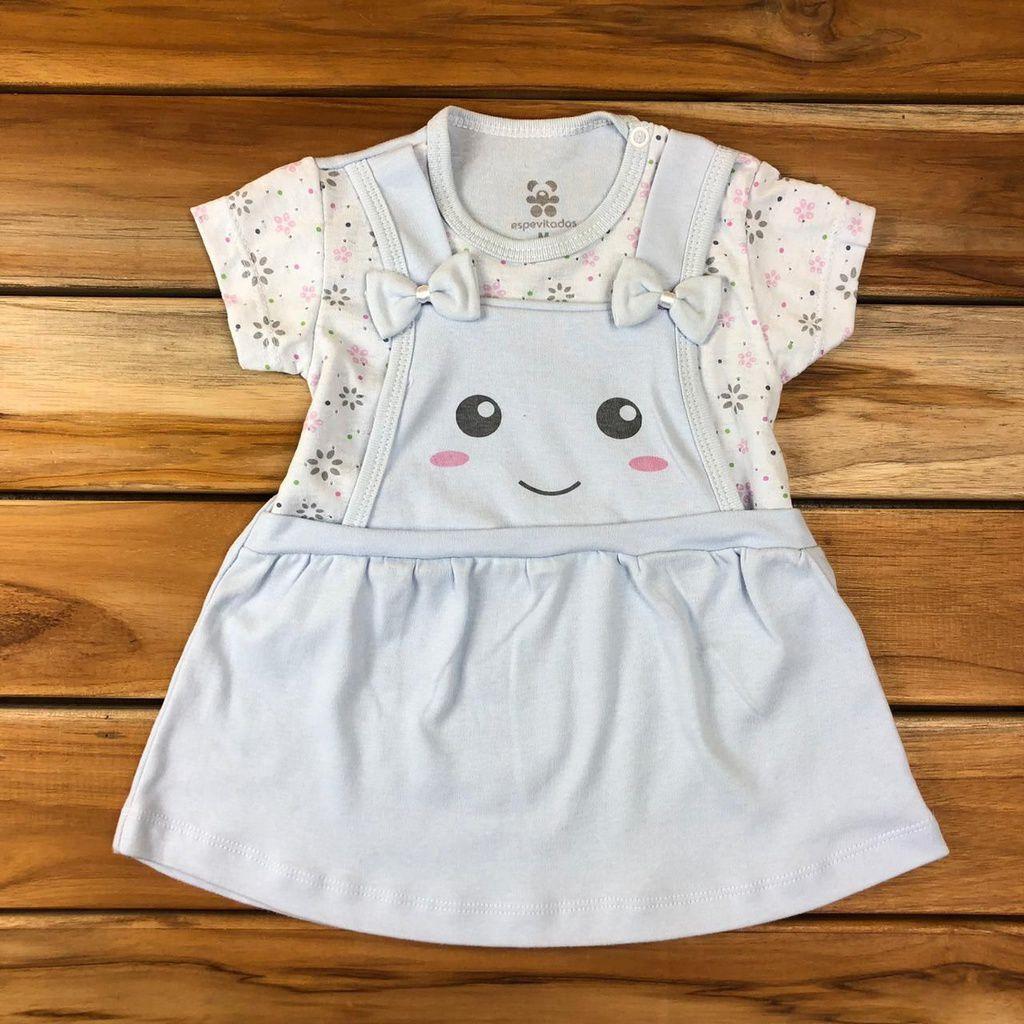 Vestido Bebê Azul