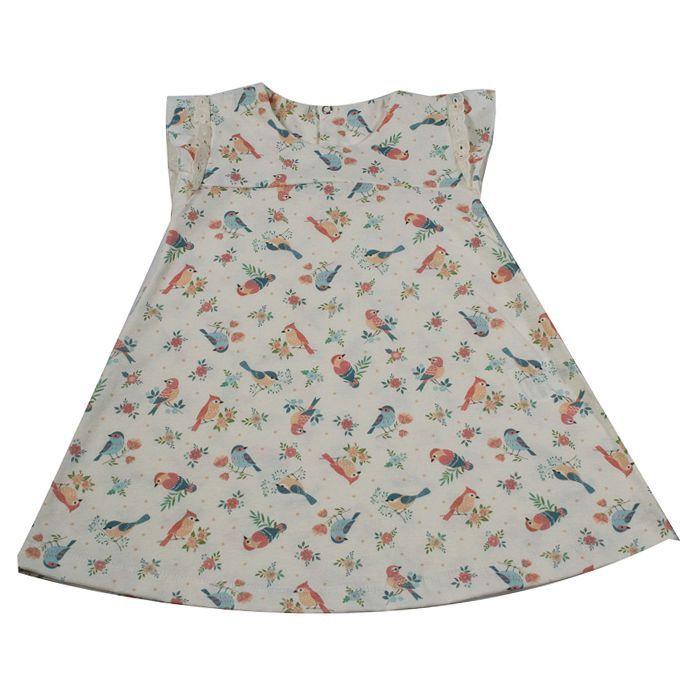 Vestido Infantil Creme