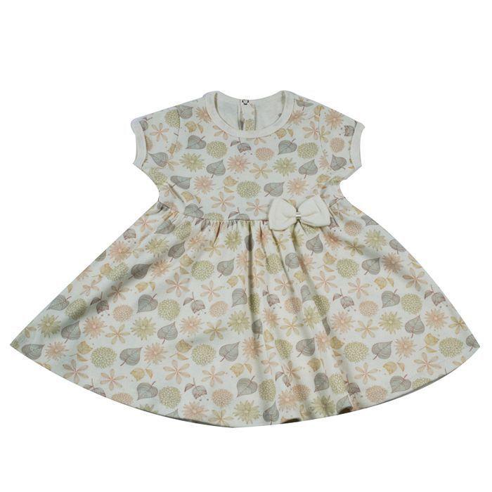 Vestido Infantil Cru