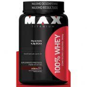 100% Whey Concentrado 900G - Max Titanium - Chocolate