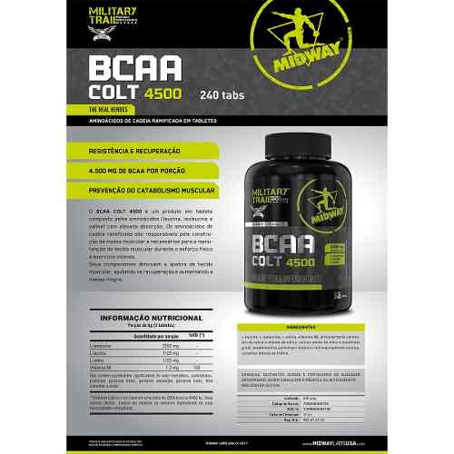Bcaa Colt 4500 240 Tabs Military Trail - Midway