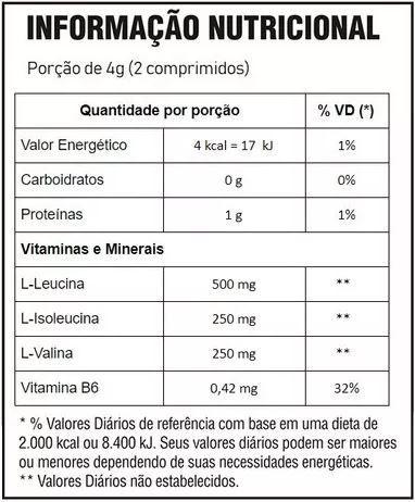Bcaa Mastigável (120 Comprimidos) - Body Action