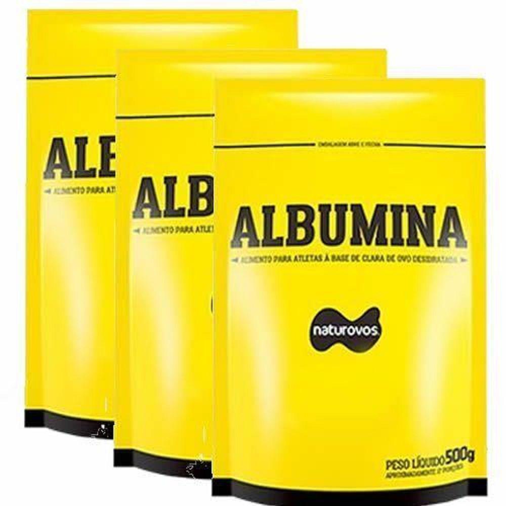 Combo - 3 Albumina Refil - 500g Chocolate - Naturovos