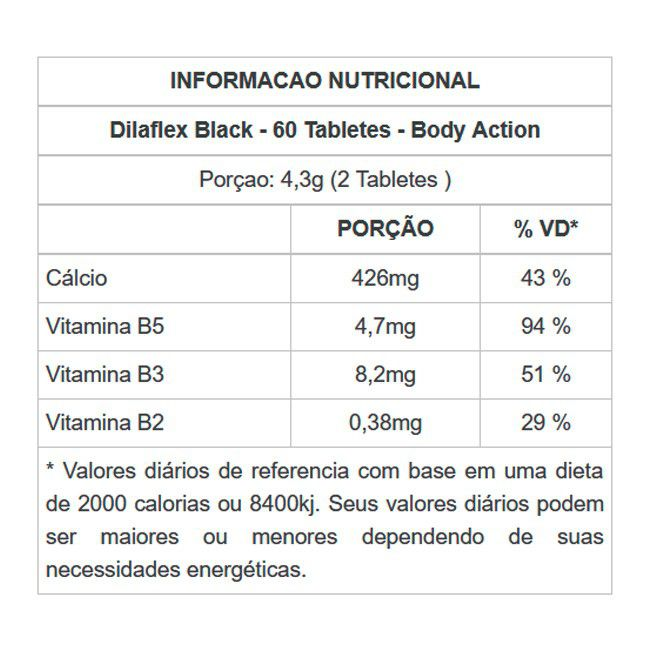 DILAFLEX BLACK 60 COMPRIMIDOS