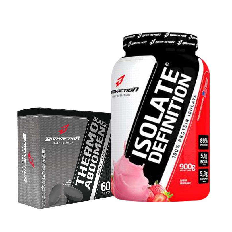 ISOLATE DEFINITION 900G + THERMO ABDOMEN BLACK 60 CAPS (BODY ACTION)