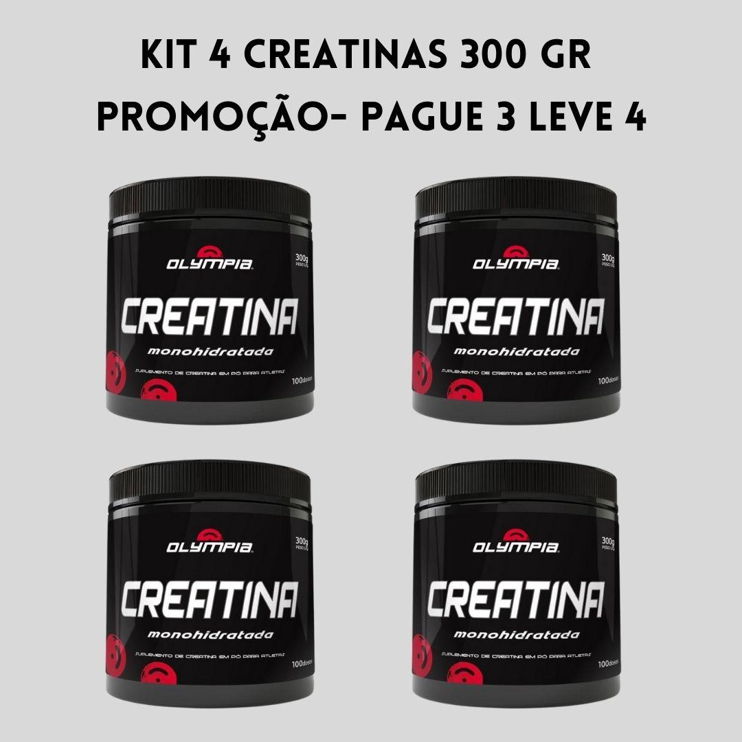 Kit Promocional 04 Creatinas Olympia 300gr (100 doses)