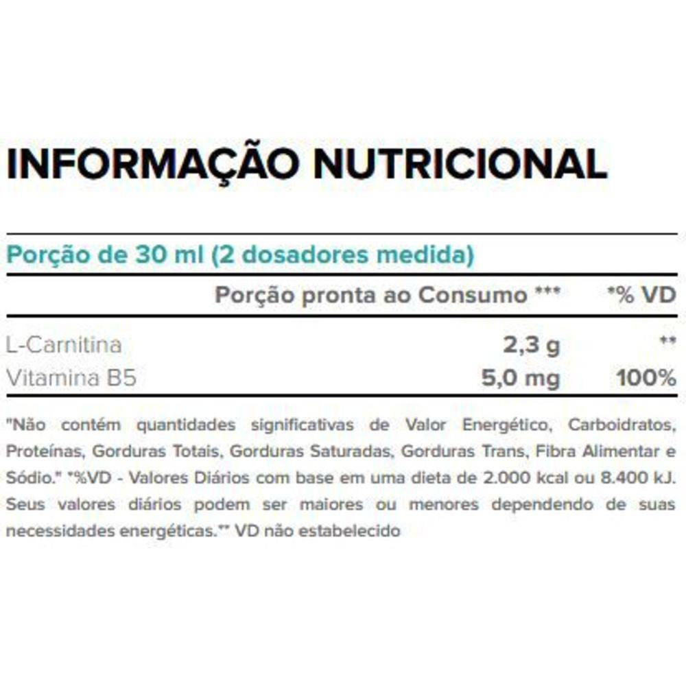 L-CARNITINE PURE 2.000 480ML PESSEGO - Body Action