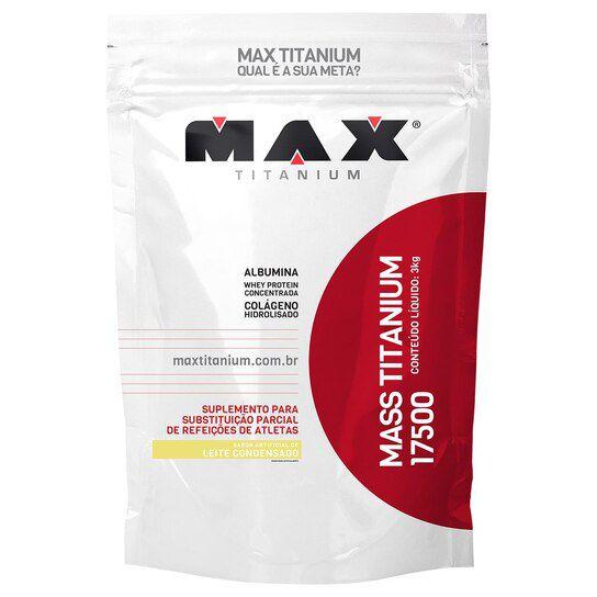 MASS TITANIUM - 3 KG - MAX TITANIUM - LEITE CONDENSADO