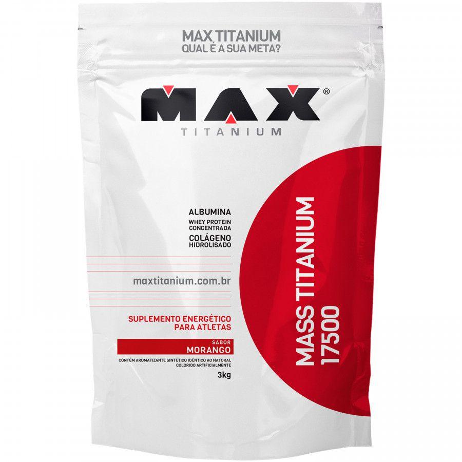 COMBO: MASS TITANIUM 3KG + BCAA 100CAPS (MAX TITANIUM) + CREATINA 200G (BLUSTER)