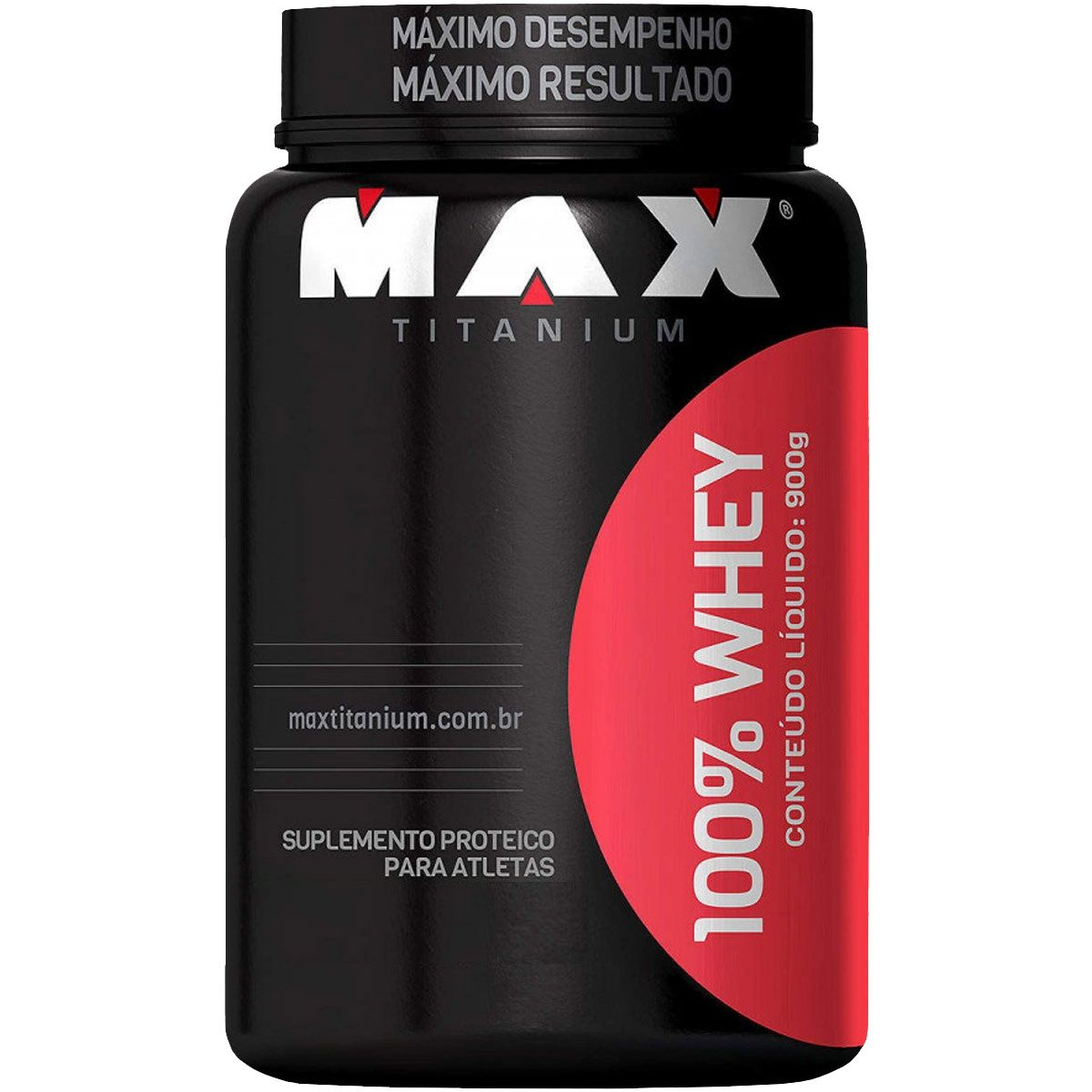 Whey Protein Concentrado 100% WHEY 900g - Morango -  Max Titanium