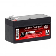 Bateria Selada Unipower Chumbo Ácido 12V 1.3Ah