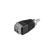 Conector Borne Macho RCA Intelbras Conex 1000