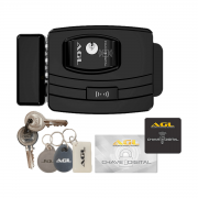 Fechadura Elétrica Wi-Fi AGL Ultra Magic Card com Tag e Cartão
