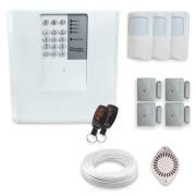 Kit Alarme Residencial Bopo 7 Sensores Sem Fio e Discadora