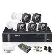 Kit Câmeras de Segurança com DVR Intelbras 8 câmeras Giga 720p Bullet