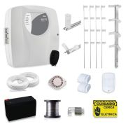 Kit Cerca Elétrica com Alarme Genno 30 Metros com 3 Sensores