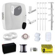 Kit Cerca Elétrica com Alarme Genno 50 Metros com 3 Sensores