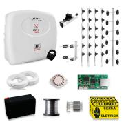 Kit Cerca Elétrica via APP Celular JFL Para 40 Metros Com Big Haste e Aço Inox