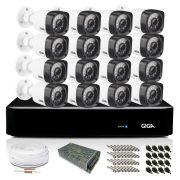 Kit CFTV Giga Full HD 16 Câmeras Bullet HVR 16 Canais