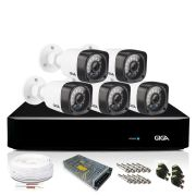 Kit CFTV Giga Orion com 5 Câmeras Bullet 720p DVR 8 Canais