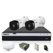 Kit CFTV Intelbras Full HD 2 Câmeras VHD 1220B DVR MHDX 3104