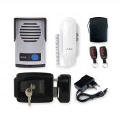 Kit Interfone Porteiro Eletrônico AGL com Fechadura Elétrica e Acionamento por Controle Remoto