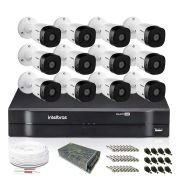 Kit Monitoramento Intelbras com 12 Câmeras de Segurança 720p