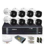 Kit Monitoramento Intelbras com 8 Câmeras de Segurança 1080p