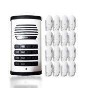 Kit Porteiro Eletrônico Coletivo AGL Com 16 Monofones