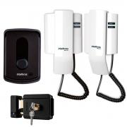 Porteiro Eletrônico Intelbras IPR 8010 Com 2 Monofones + Fechadura Elétrica Intelbras FX 500