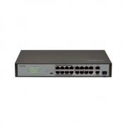 Switch Intelbras 16 Portas Fast Ethernet PoE+ SF 1821 PoE