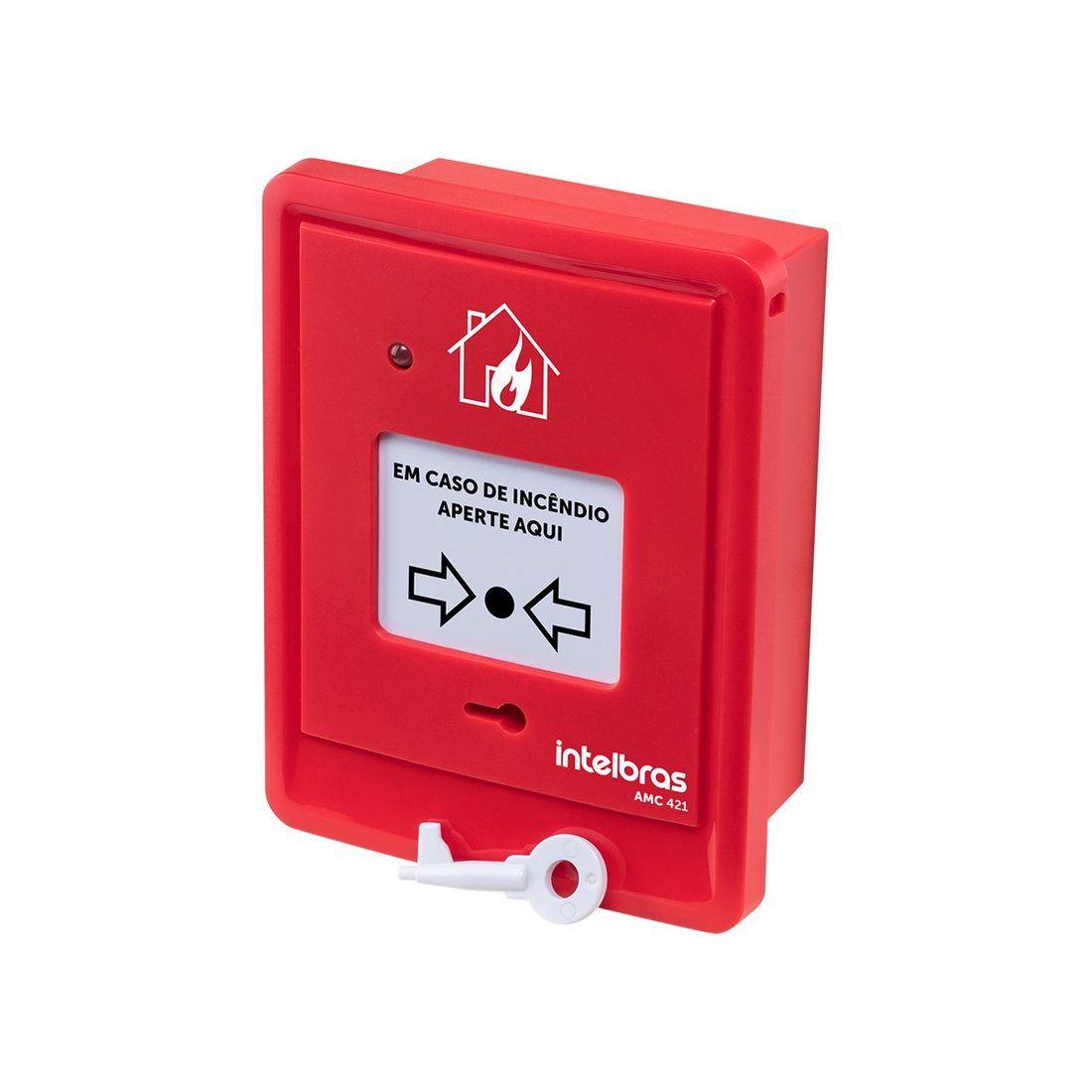 Acionador Manual de Alarme de Incêndio Intelbras AMC 421