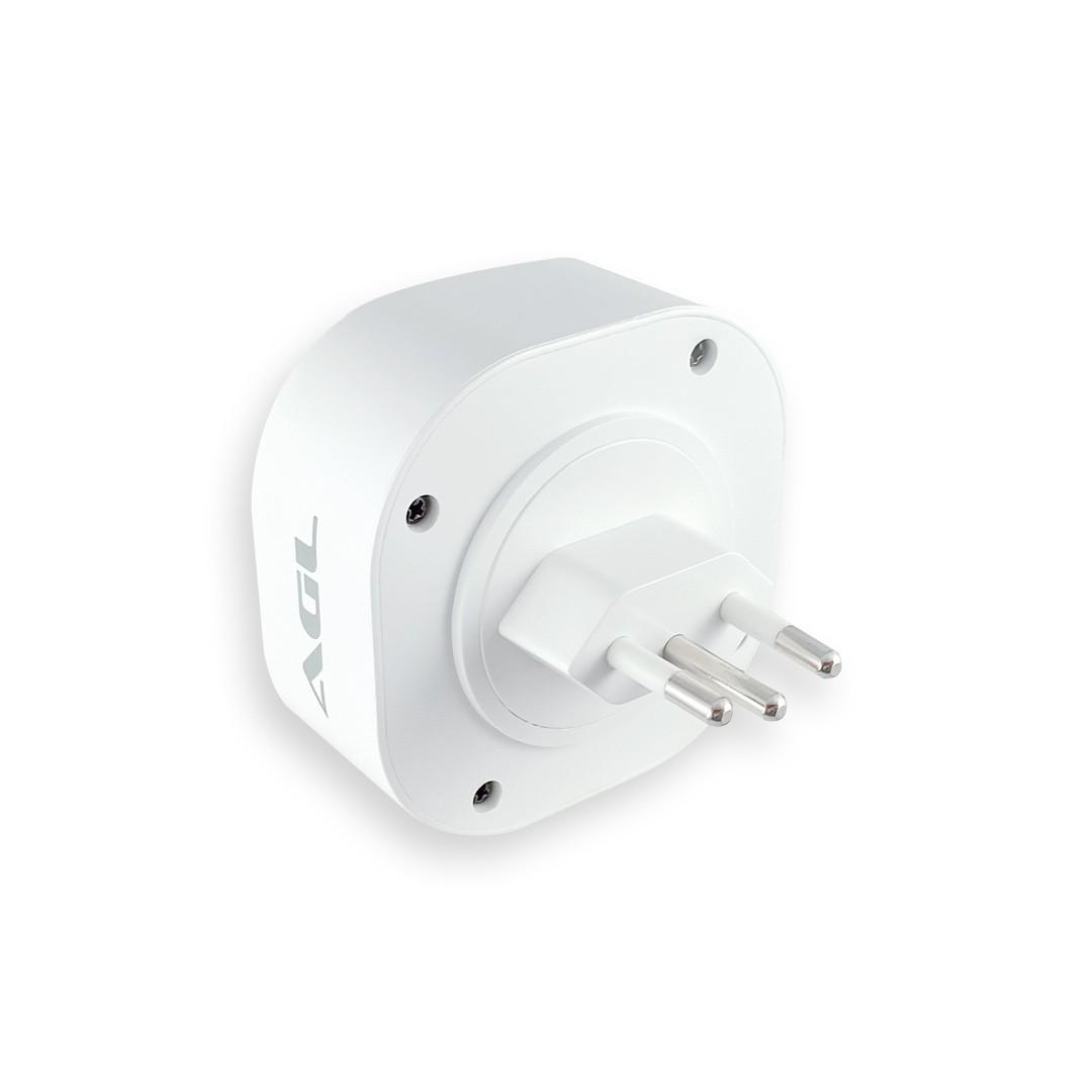 Adaptador de Tomada Inteligente WiFi AGL Bivolt 16A