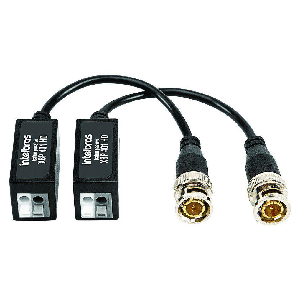 Balun Passivo Intelbras XBP 401 HD Conversor de Sinal
