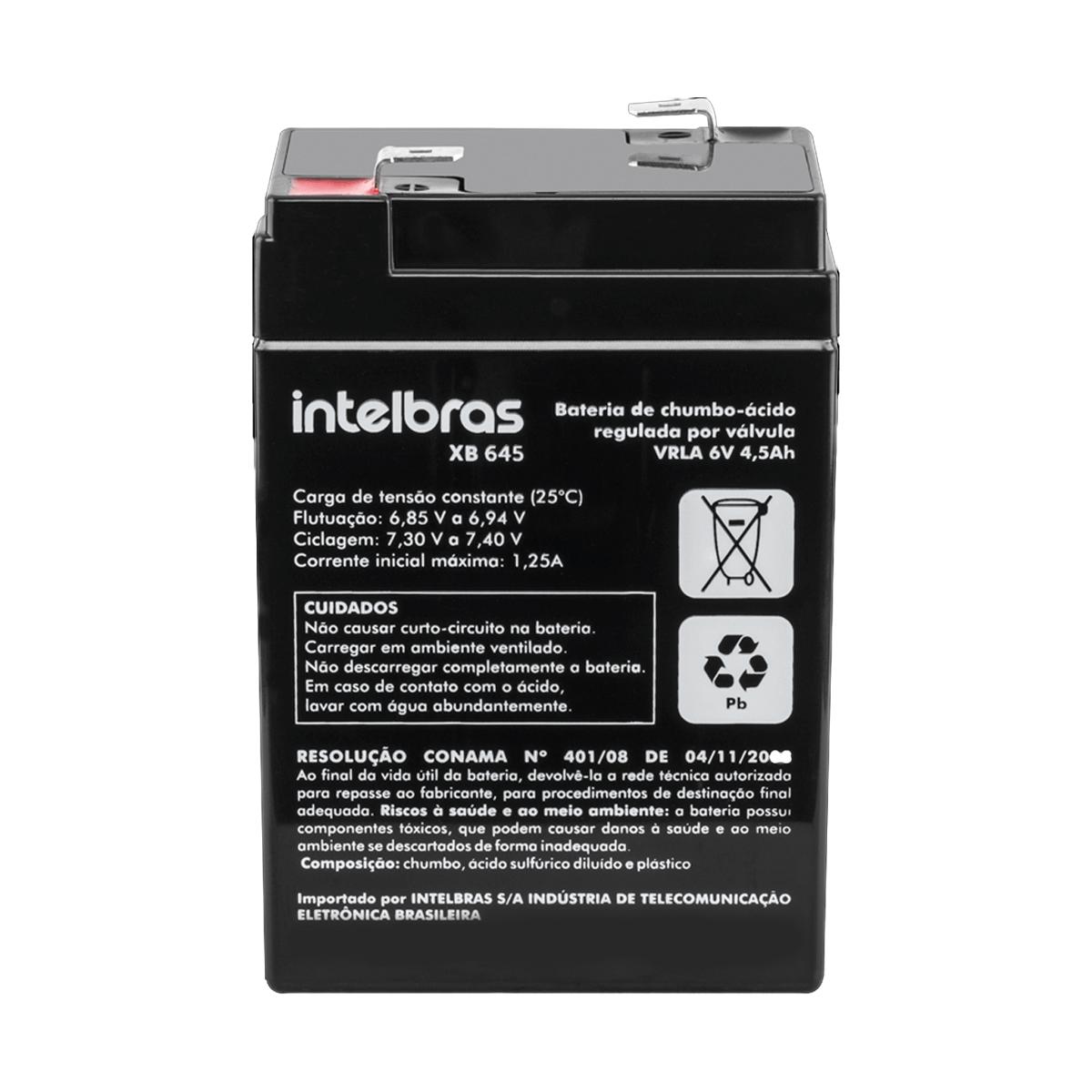 Bateria de Chumbo-Ácido Intelbras 6V XB 645